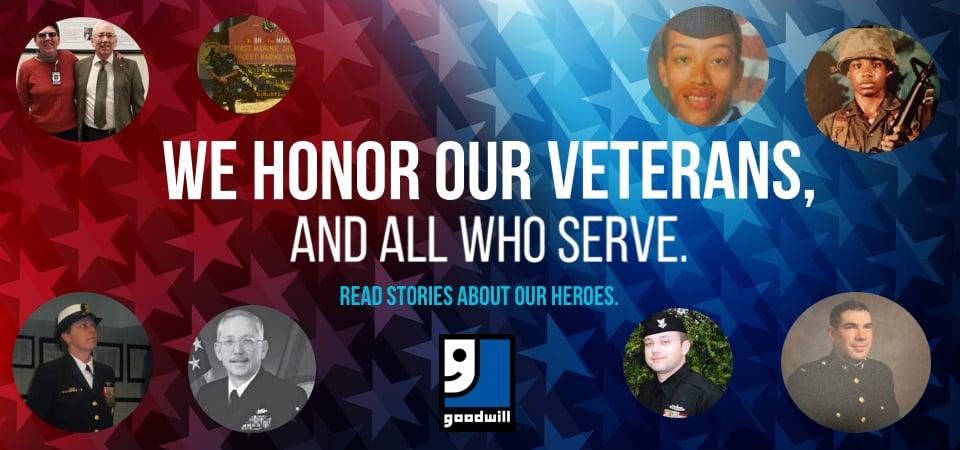 Goodwill Honors Veterans