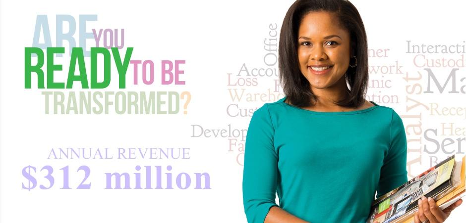 Annual Revenue over $312 million