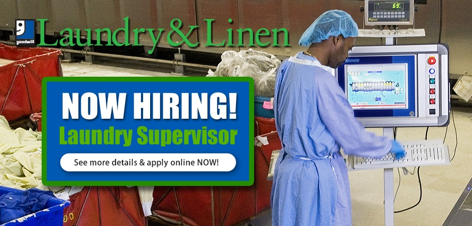 Now Hiring - Laundry Supervisor